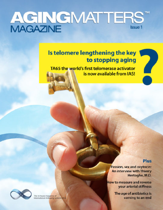Aging Matters Magazine cover of a hand holding a big gold key