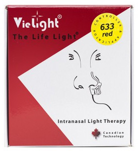 Vie Light product packaging for Intranasal Light Therapy
